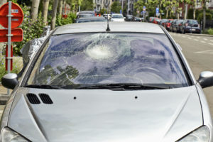 broken car windshield requiring car window repair