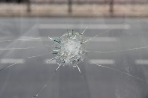 a damaged windshield that requires windshield crack repair