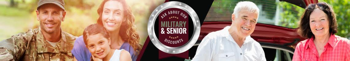 ask about our senior & military discounts